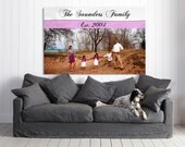 Family Established Sign Custom Made Family Canvas