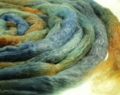 Hand Dyed Merino Tencel Wool  Roving  Spinning Fiber  - Nolan 4.0 ounces