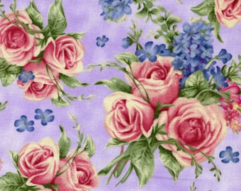Holly Pond Hill Lavender Tea Floral - David Textiles - Susan Wheeler - 1 yard - More Available - BTY