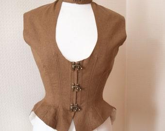 Ladies Steampunk style steel boned waistcoat