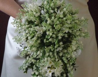 Re-creation of Kate Middleton's Royal bridal bouquet, lily of the valley, hyacinth, ivy, teardrop bouquet