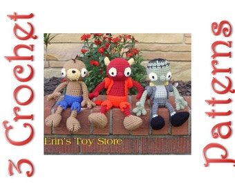 The Goon Squad 3 Crochet Pattern by Erin Scull