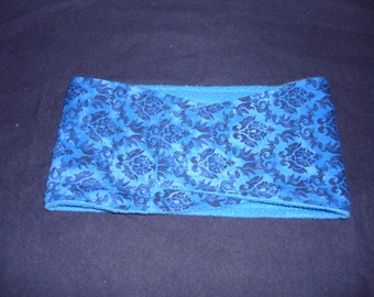 Belly Band - Male Dog Diaper - Blue Damask - Available in all Sizes