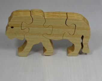 Lion Puzzle for Child - Kid's Toy - Four Piece Lion Puzzle - Child's Lion Puzzle
