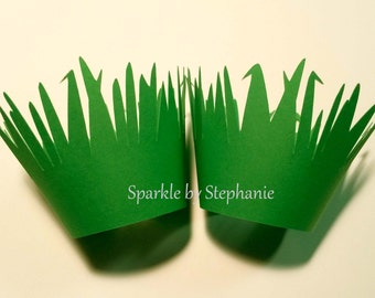 Cupcake Wrappers - Green Grass - Set of 12+
