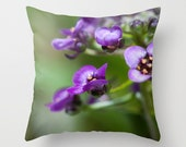 Alyssums Pillow Covers, Floral Throw Cushion Case, Handmade in Canada, Victorian Bedroom Decor, Flower Photo, Unique Mother's Day Gift Idea
