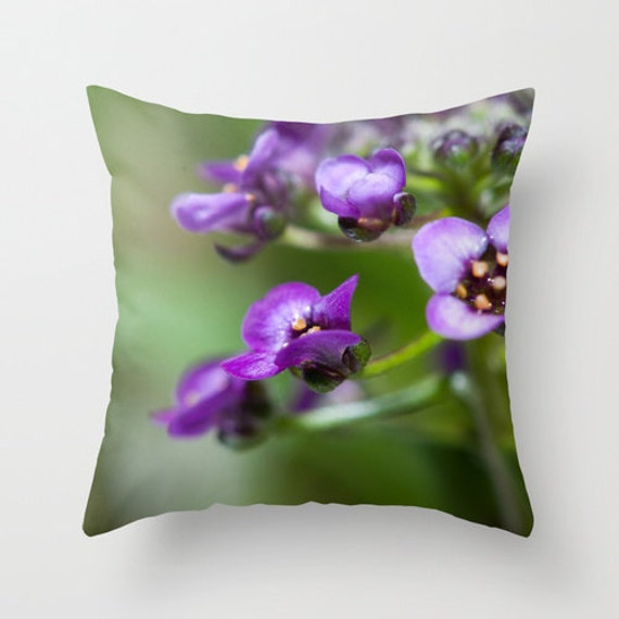 Canadian Inspired Home Decor Canada Pillow Via Etsy: Purple Decorative Throw Pillow Covers Floral Print Chair