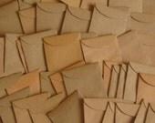 """50 Mini Brown Envelopes - 1 7/8"""" x 2"""", Tiny Brown Envelopes, Mini Seed Envelopes, Tiny Kraft Envelopes, Confetti Envelopes, Wedding Favors"""