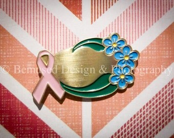 Sale - Lot of 10 Inscribable Pink Ribbon Breast Cancer Lapel Pins