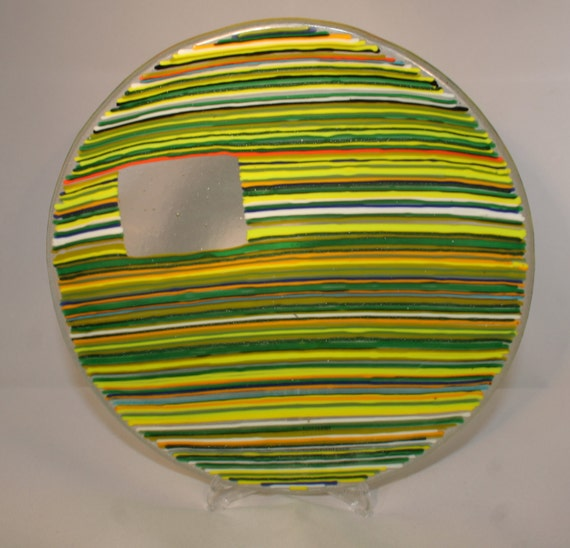 Striped Window Bowl - Made to Order With Any Colours