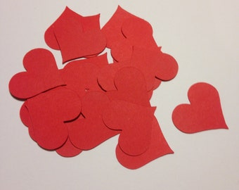 100 Hearts Die Cut Shapes - 1 inch