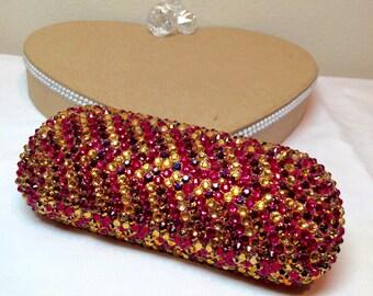 Pink Sparkle Sunglass case
