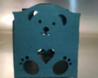 DIY boy bear baby bed box set of six