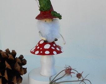 Paper Mache Gnome art doll