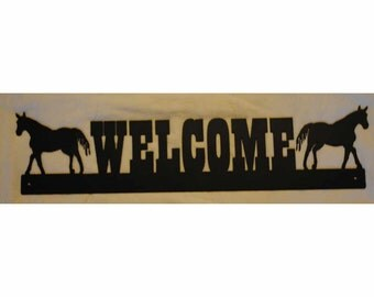 Western Welcome Sign - Horses