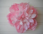 Ombre Pink Peony Hair Clip