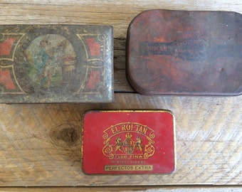 Vintage Tins, set of 3