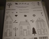 StampinUp Holiday Home Rubber Stamp Set