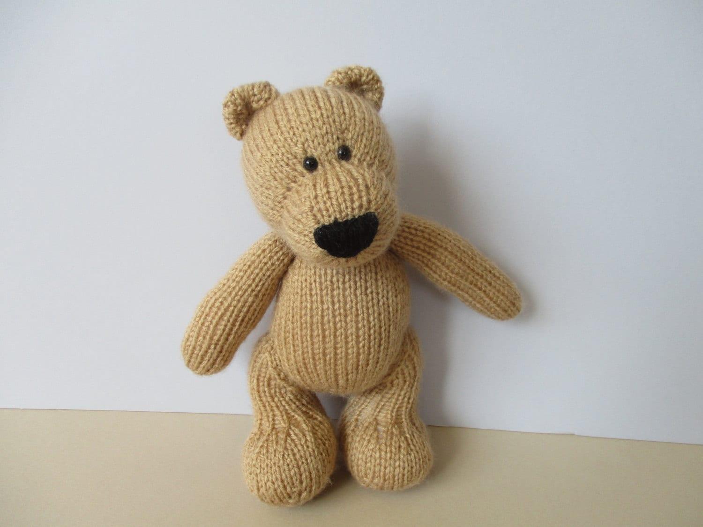 Eddie Bear toy knitting patterns