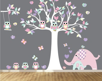 Vinyl Wall Decal   Nursery Wall Decal - Play Room Wall Decal - Tree Wall Decals - Custom Decals Wall Art