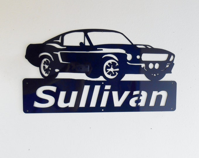 1967 Ford Mustang - Personalized - Man Cave - Eleanor- Bullit -GT500- Garage Sign -Custom Colors