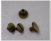 20sets  9mm x 6mm  antique brass screws rivets Chicago screw/Concho screw