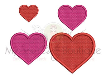 Heart Embroidery Design - 14 Sizes - Instant Download