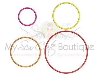 Circle Applique - I8 Sizes - Instant Download