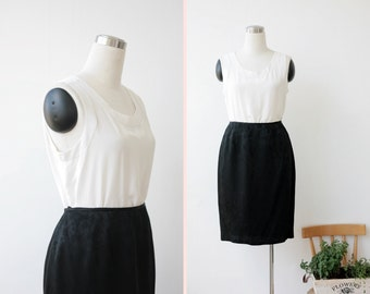 on SALE. 1990s Vintage Tahari Black Skirt Large Silky Black Skirt L Designer Skirt sz 14