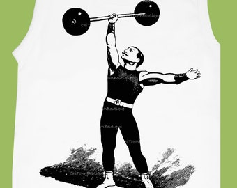Boys Sleeveless TShirt, Circus Strong Man, Muscle Shirt, Boys T Shirt, Toddler Muscle T Shirts, Strong Man T Shirt,vintage ChITownBoutique