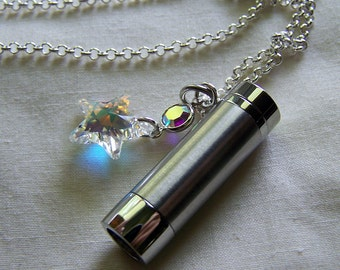 Silver Kaleidoscope with Swarovski Crystal Star Pendant