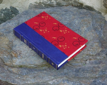 Harry Potter Book, The Sorcerer's Stone, Leather spine with Invisible Cloak Natibaby woven material