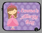 Personalized Princess Allergy Case, Custom Epi-Pen Bag, Medicine Alert Bag