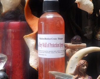 Fiery Wall Spray Mist Wicca Spirituality Pagan Ritual Spell Ceremonies Conjure Metaphysical MaidenMotherCrone