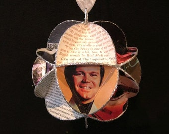 Glen Campbell Album Cover Ornament Made Of Repurposed Record Jackets