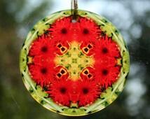 Daisy Suncatcher Boho Chic Mandala Sacred Geometry New Age Hippie Kaleidoscope Fringe Benefits