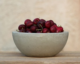Concrete Fruit Bowl 8""