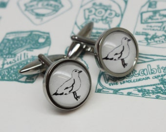 Seagull Cufflinks – Mens cufflinks – Gift for him – Groomsmen Gifts - Brighton cufflinks