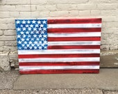 American Flag No. 25 Large Pop Art Painting on Canvas 24 x 36