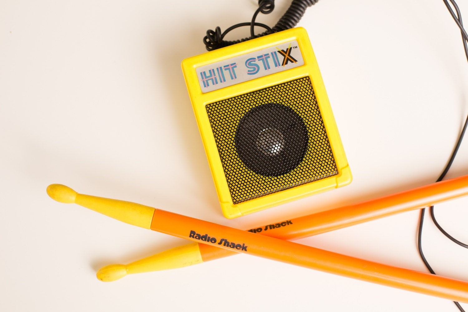 80s Electronic Toys : Vintage s hit stix electronic drum sticks toy radio shack