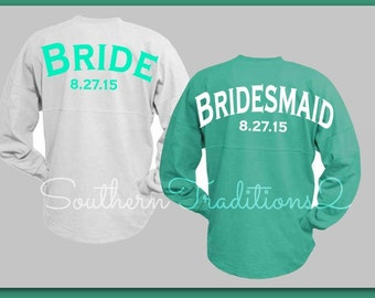 Bridal Party Jersey. Custom Jersey Wedding Oversized for the Bride Bridesmaid Maid of Honor SALE price on this listing only