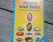 Heads and Tails A Fast-Paced memory game vintage Ravensburger 1987 family time family game night