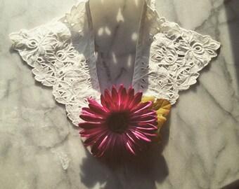 1930s Cutwork White Lace Collar