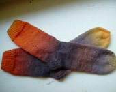 Hand Knit Soft And Warm  Women's  Wool Socks, Size 8 - 8.5  (9.5 inches length)