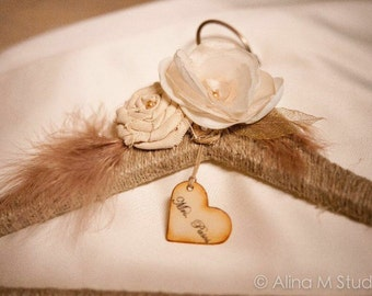 Bride to be Hanger. Bridal hanger, Shabby Chic, Rustic Wedding Hanger