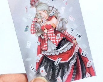 Queen of cards ACEO print