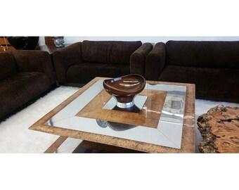 Biomorphic Georg Jensen Sterling Wooden Table Bowl