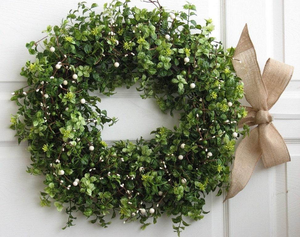 winter wreath boxwood wreath front door wreath. Black Bedroom Furniture Sets. Home Design Ideas