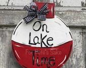Lake theme door hanger