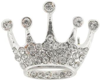 Silver Crown Brooch 1004762